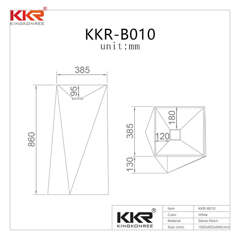 Diamond design white marble acrylic solid surface bathroom wasn basin KKR-1387