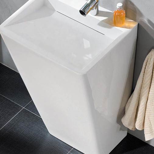 Custom solid kkr freestanding basin KingKonree marble