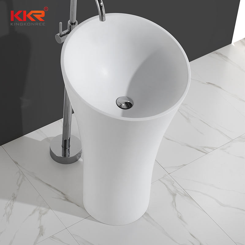Solid surface modern fancy unique bathroom freestanding wash basin KKR-1394
