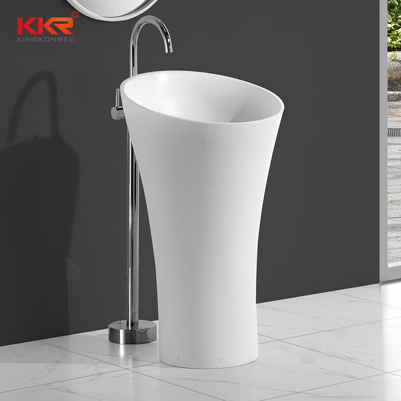 KingKonree Solid surface modern fancy unique bathroom freestanding wash basin KKR-1394 Freestanding Basin image10