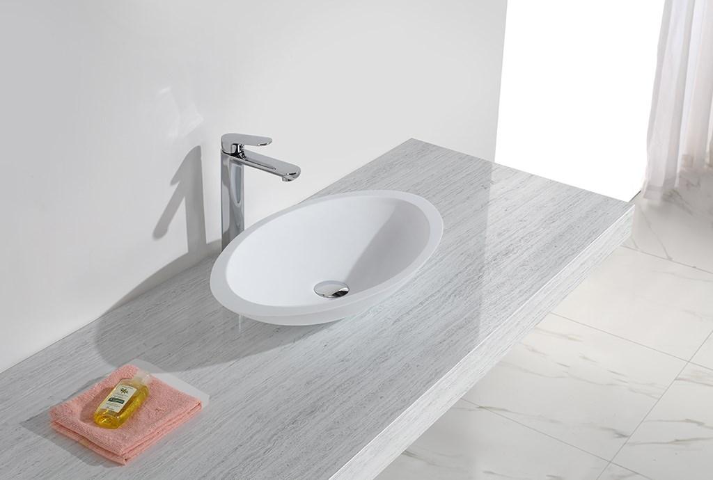 KingKonree Brand quality artificial counter custom oval above counter basin