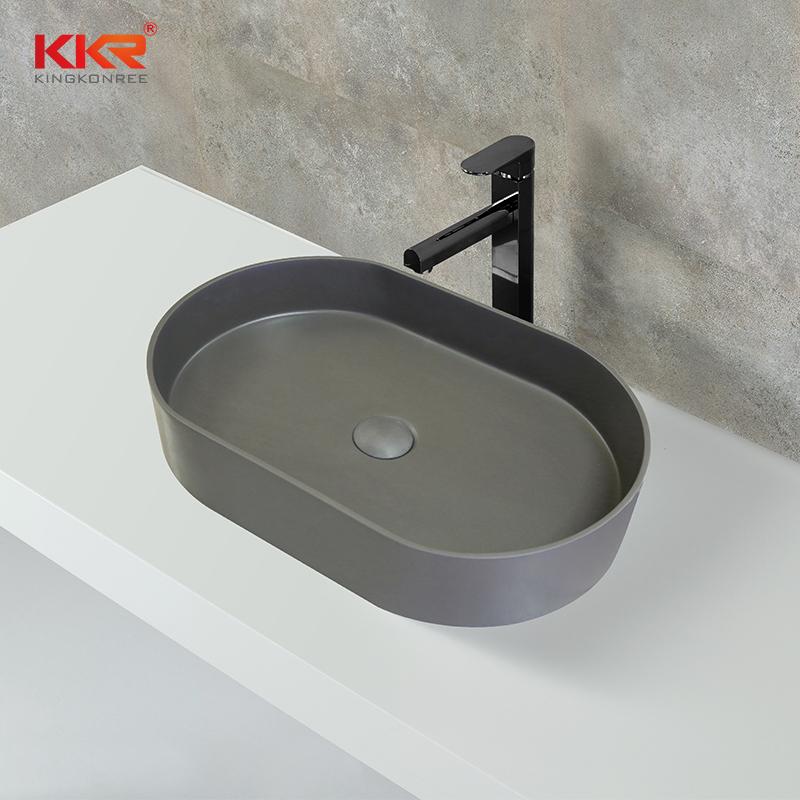 New Design High Quality Black Outside White Inside Above Counter Wash Basin KKR-1057