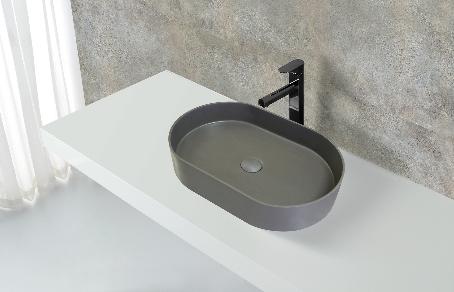 solid wash oval above counter basin KingKonree manufacture