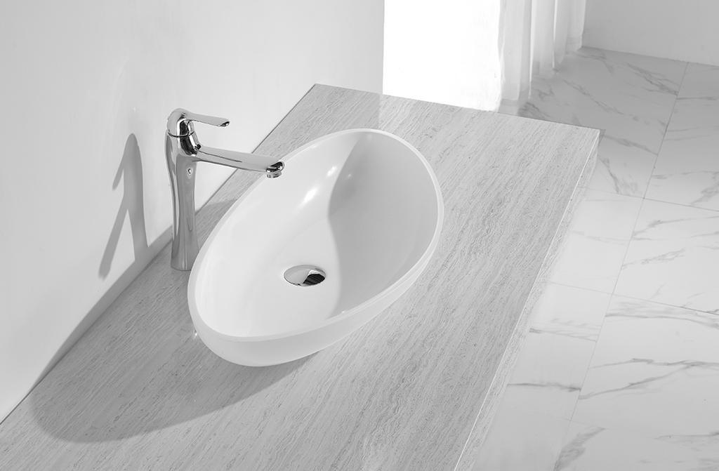 KingKonree Brand basin quality acyrlic oval above counter basin kkr
