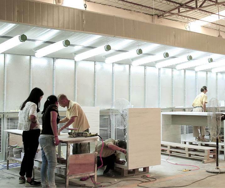 white artificial countertop above counter basins ware KingKonree Brand