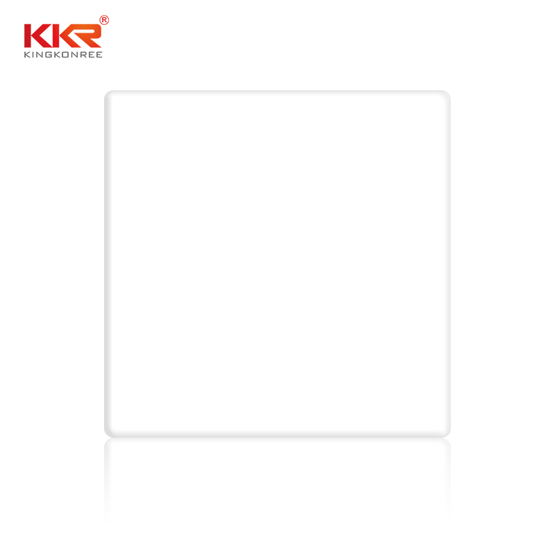 12mm White Pure Acrylic Solid Surface Sheet KKR-2700