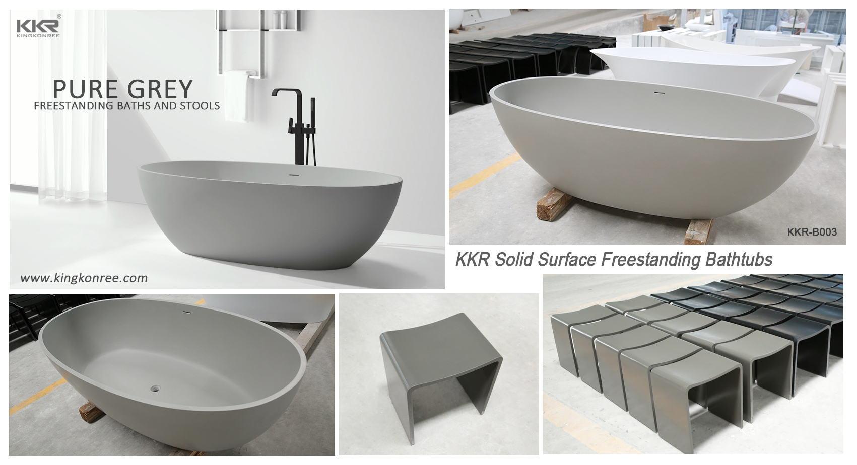 Wholesale over b006 solid surface bathtub KingKonree Brand