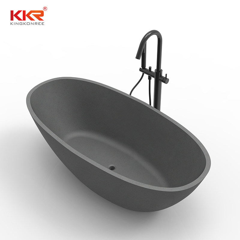 Hot Selling Acrylic Solid Surface Bathtub With Modern Design KKR-B008