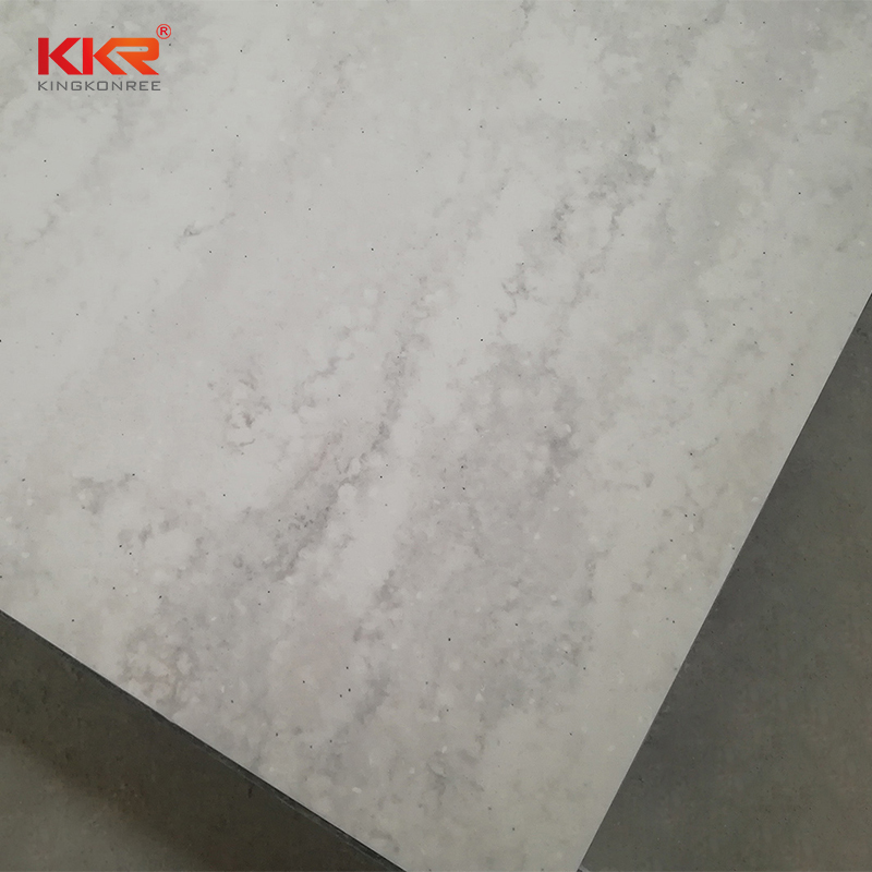 Artificial Stone Pure Acrylic Solid Surface Sheet With Texture Pattern KKR-M6801