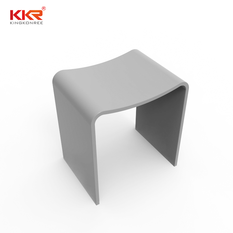 Best-selling Acrylic Solid Surface Bathroom Stool With Kinds Of Color For Choice KKR-Stool-B