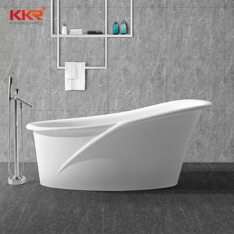Modern Artificial Marble Acrylic Solid Surface Freestanding Bathtub KKR-B028