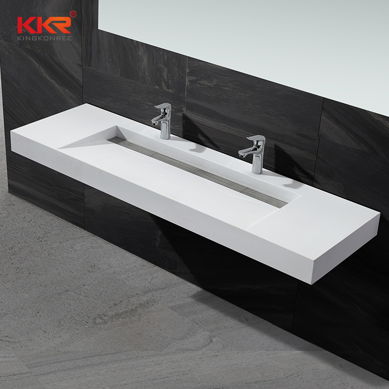Popular Design Acrylic Resin Stone Solid Surface Wall Hung Basin KKR-1378