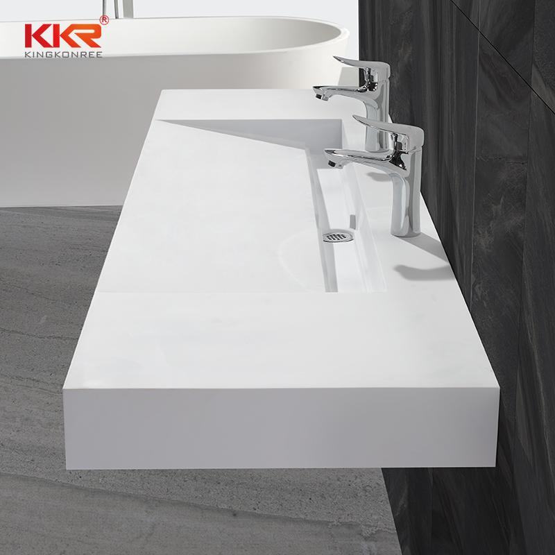 Popular Design Acrylic Resin Stone Solid Surface Wall Hung Basin KKR-1378