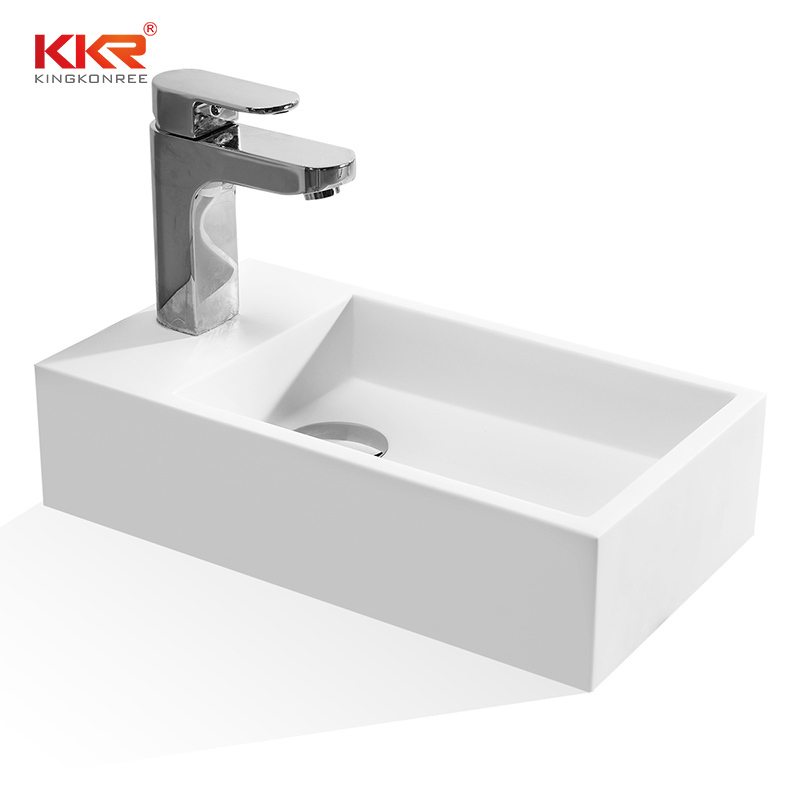 KKR Wholesale Small Size Wall Hung Solid Surface Basin KKR-1105
