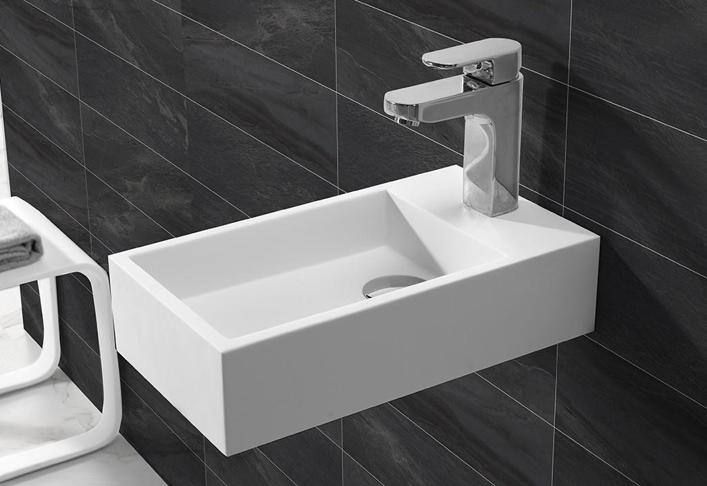 kkr wall mounted bathroom basin acrylic artificial KingKonree Brand
