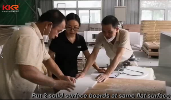 How solid surface sheets jointed seamless