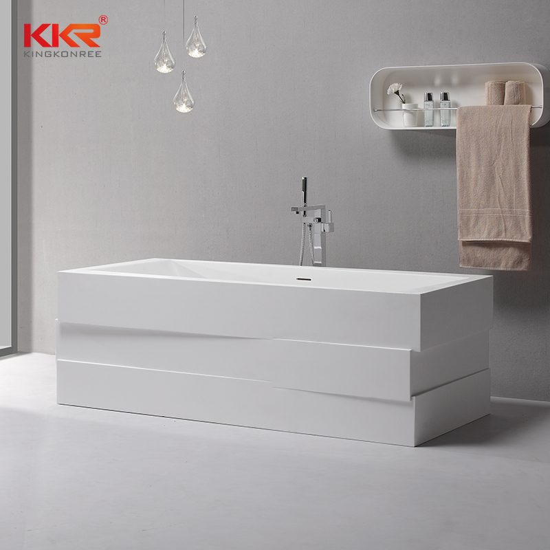 Modern Design Acrylic Resin Stone Solid Surface Freestand Bath Tub KKR-B085