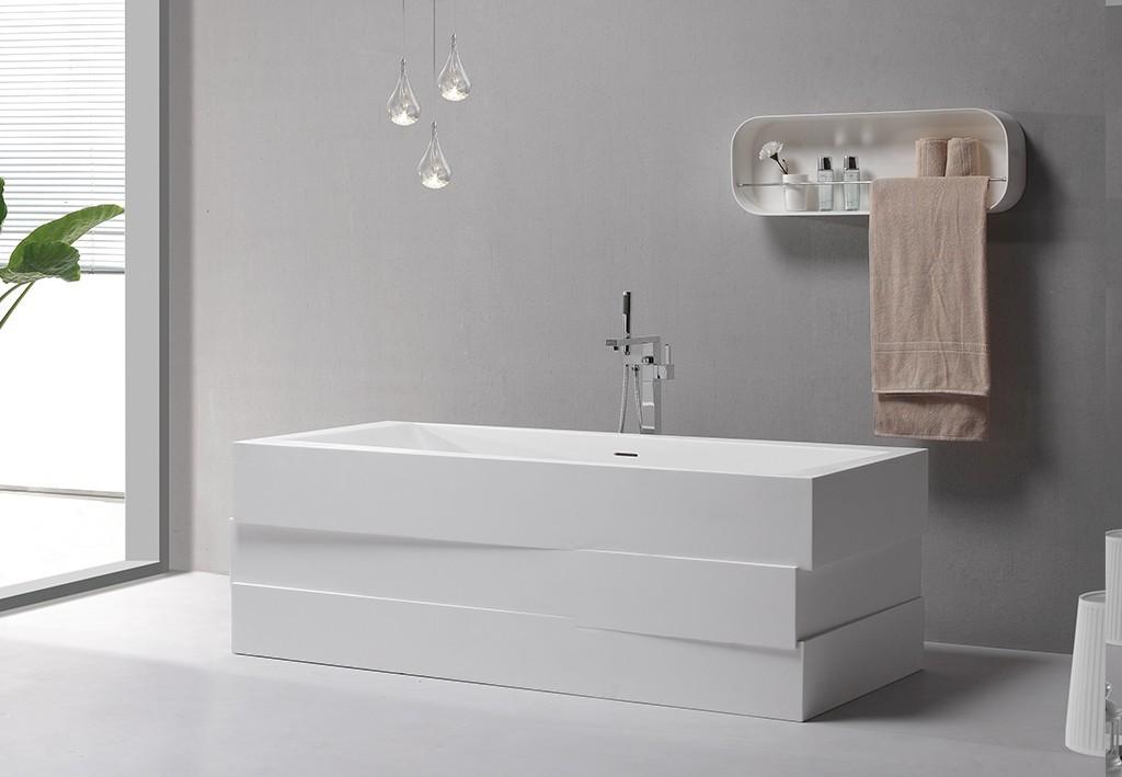 Solid Surface Freestanding Bathtub b021 standing artificial Warranty KingKonree