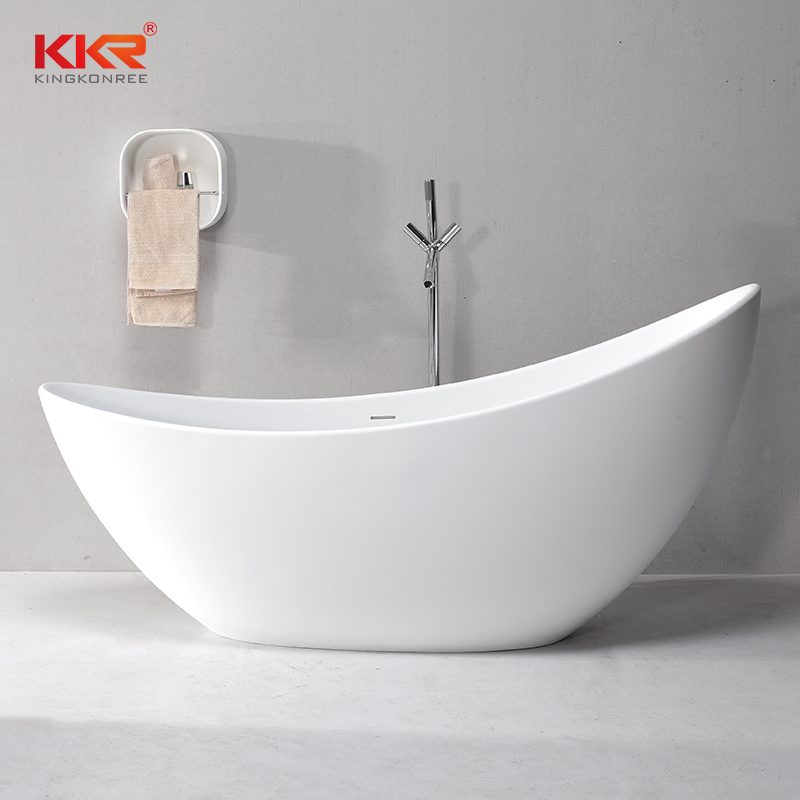 Hot Selling  Artificial Stone Solid Surface Freestanding Bathtub KKR-B072