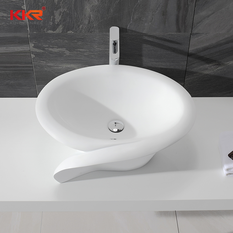 European Standard Stylish Solid Surface Countertop Wash Basin KKR-1395-1