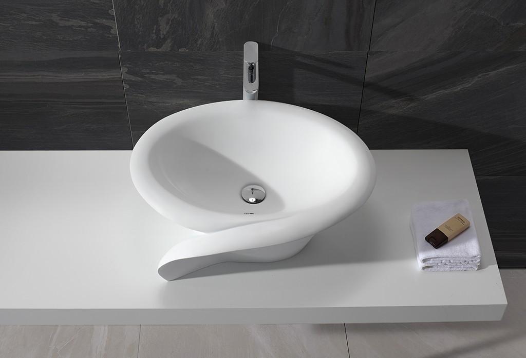 KingKonree Brand acyrlic sanitary acrylic oval above counter basin basin