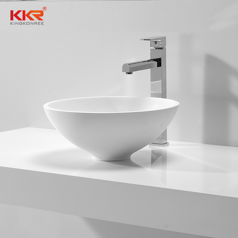 Small Size Round Solid Surface Wash Basin KKR-1500