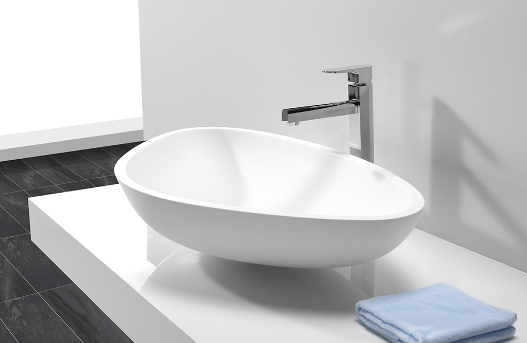 KingKonree Brand acyrlic square oval above counter basin