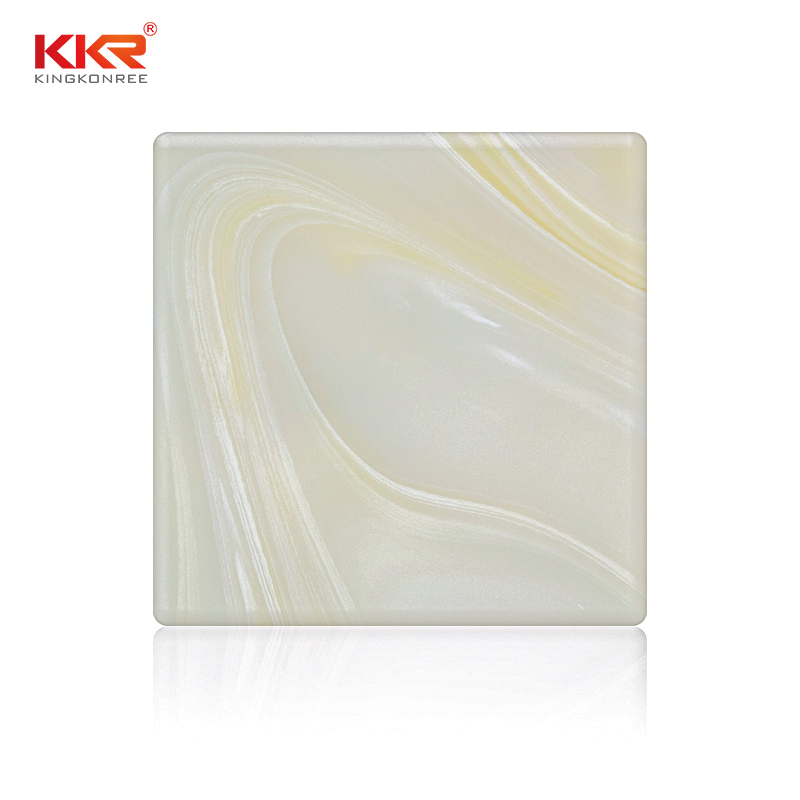 Artificial Marble Acrylic Stone Translucent Solid Surface Sheets KKR-A025