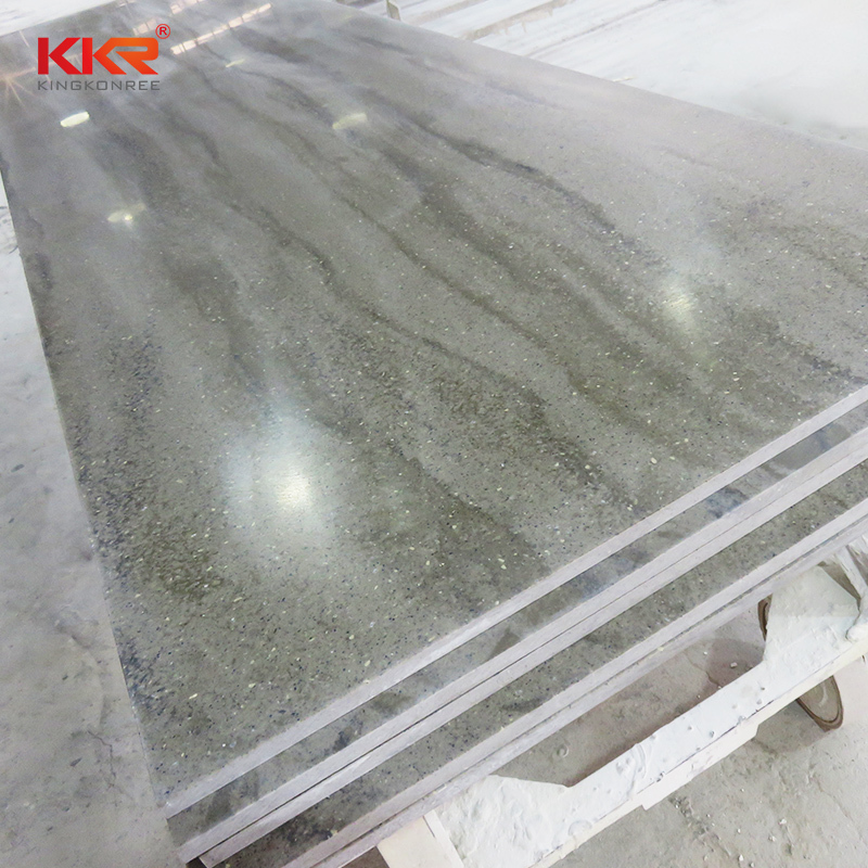 Acrylic Marble Texture Pattern Solid Surface Sheets KKR-M6809