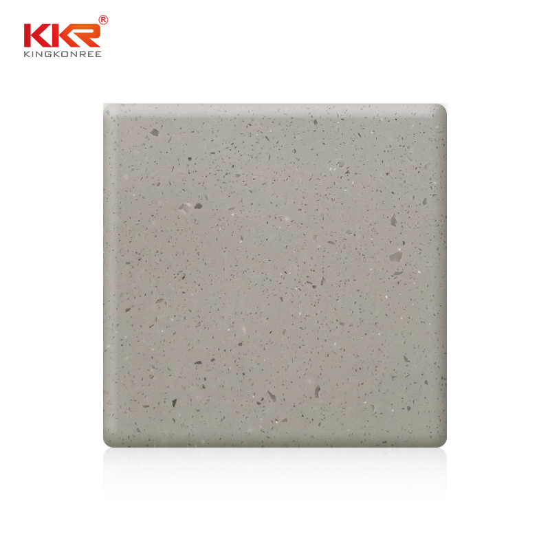 3660mm Gray Color Artificial Stone Pure Acrylic Solid Surface Sheet  KKR-M2665