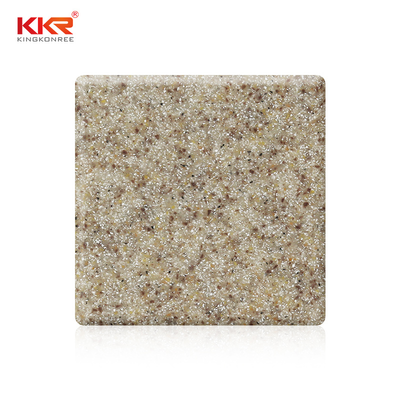 1220mm Width Sand Color Resin Stone Acrylic Solid Surface Sheet KKR-M1609