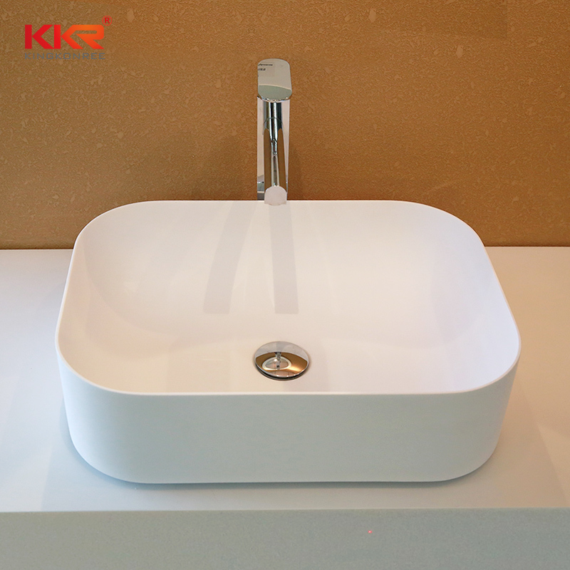 Newest Design Artificial Stone Solid Surface Above Counter Basin  KKR-1152
