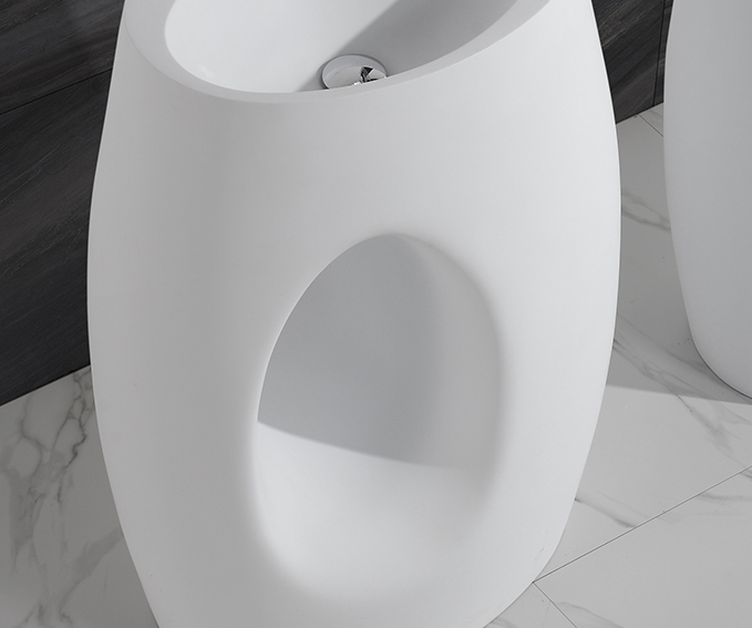 KingKonree Brand white square fancy freestanding basin manufacture