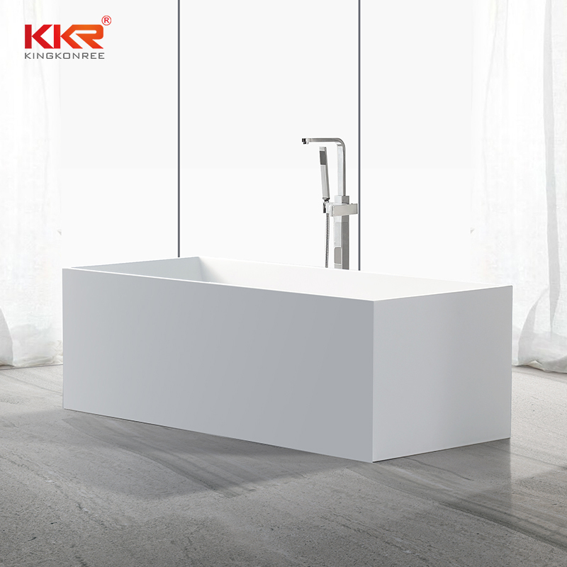 Rectangle Modern Design Artificial Stone Acrylic Stone Solid Surface Bathtub KKR-B029