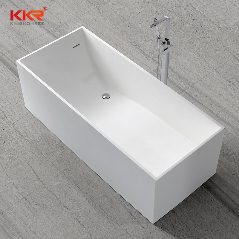 Rectangle Modern Design Artificial Stone Acrylic Stone Solid Surface Bathtub KKR-B029