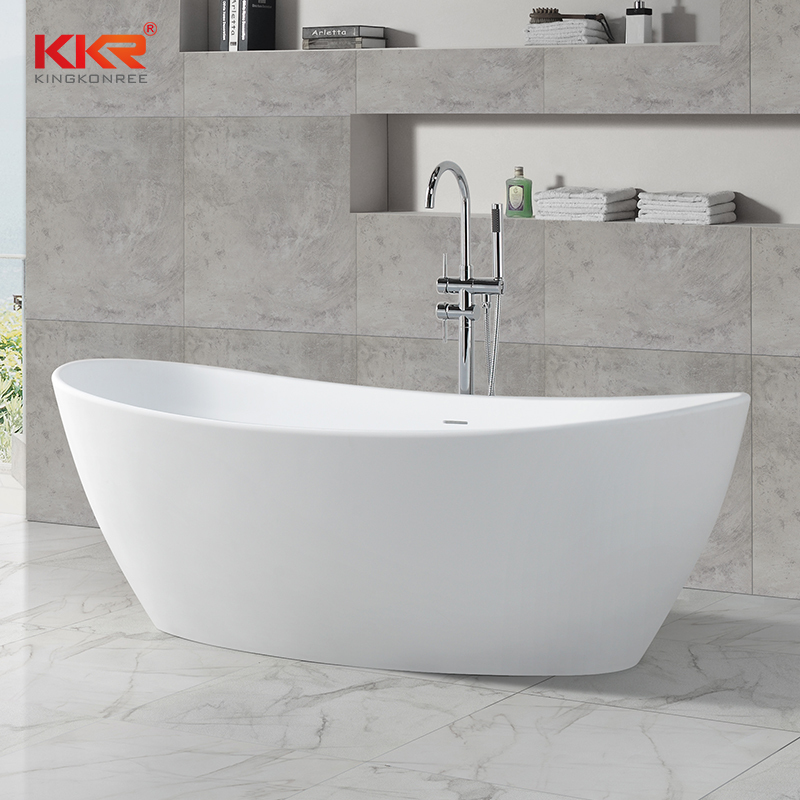 Durable And Easy Clean Acrylic Resin Stone Solid Surface Freestanding Bathtub KKR-B034