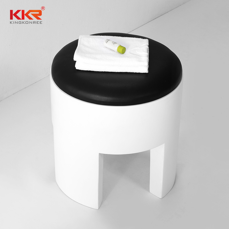 KKR Unique Designs Bathroom Solid Surface Stool Made By Mould KKR-Stool-C