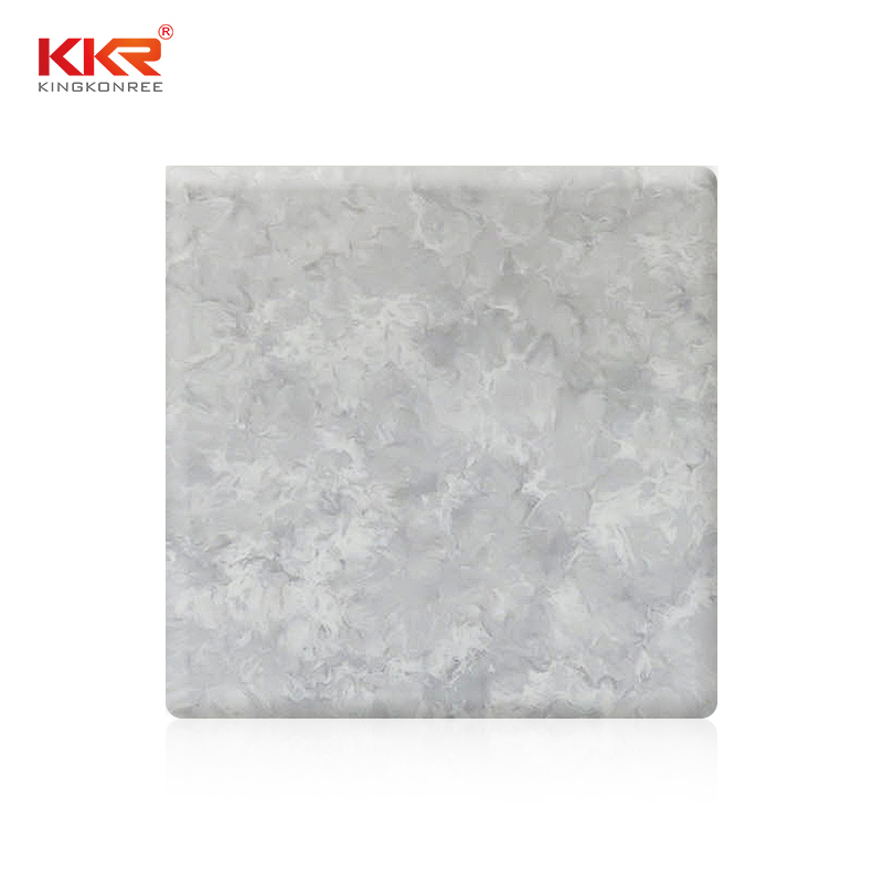 96 Inch Artificial Marble Texture Pattern Acrylic Solid Surface Sheets KKR-M8807