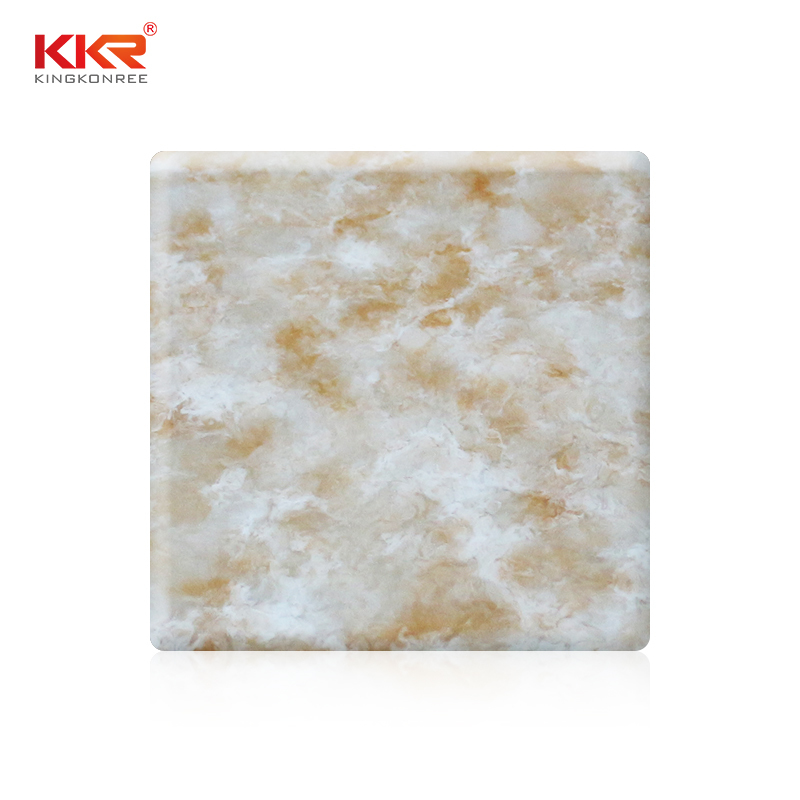 144 Inch Modified Acrylic Marble Texture Pattern Solid Surface Sheets KKR-M8802