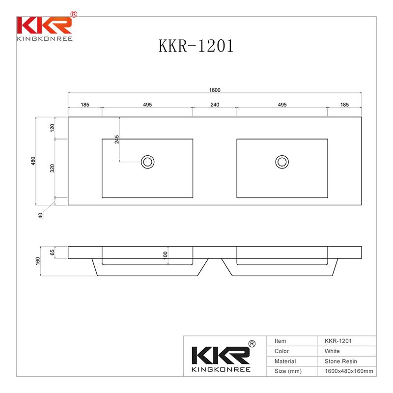 140CM Length Slid Surface Cabinet Basin With Double Sinks  KKR-1201