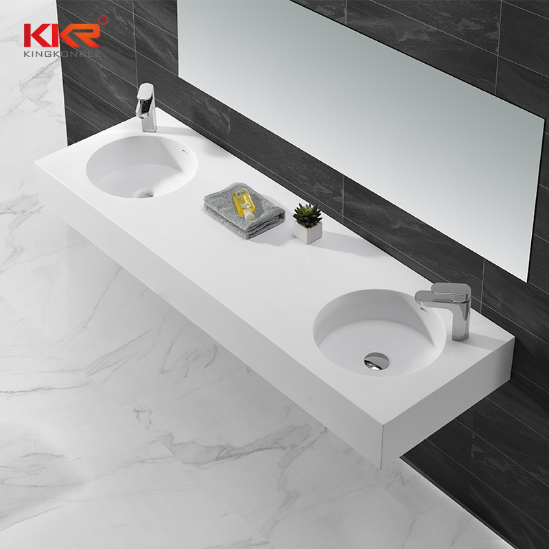 Hot Sales Artificial Marble Stone Resin Solid Surface Wall Mount Basin KKR-1272