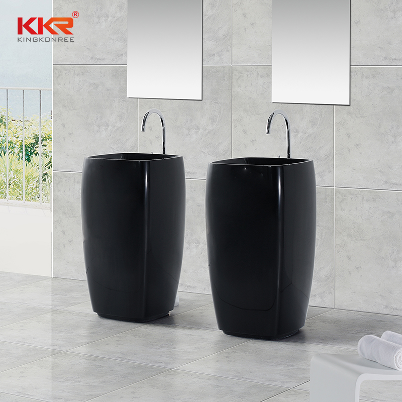 Black Solid Surface Freestanding Basin KKR-1391