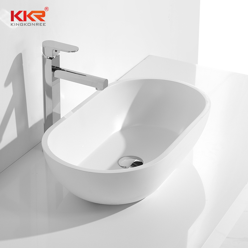 Bathroom Acrylic Solid Surface Above Counter Sink KKR-1312