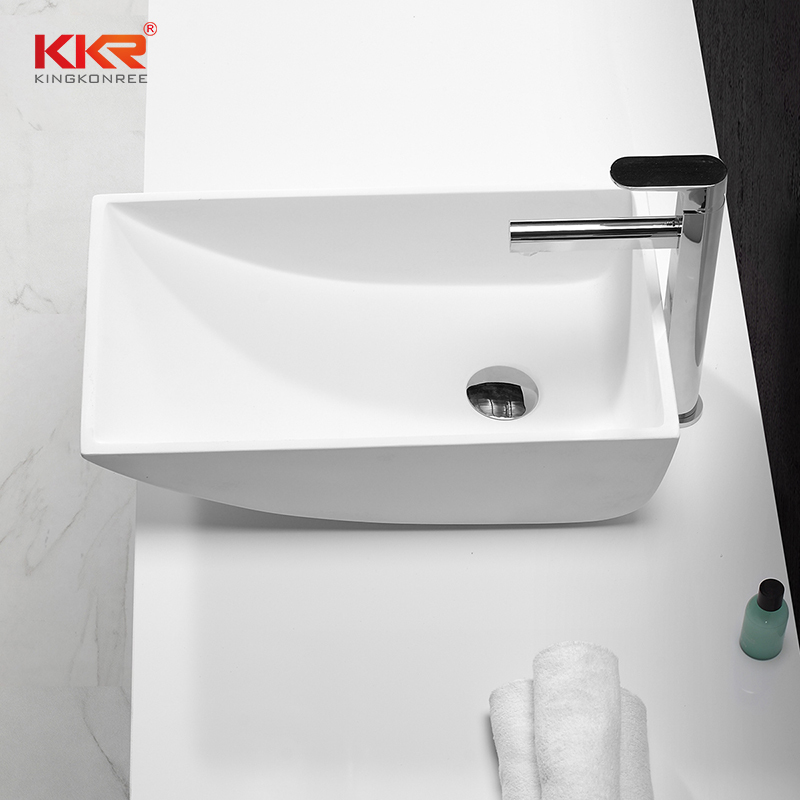 Hot Sale Polymarble Stone Resin Above Counter Wash Basin KKR-1314