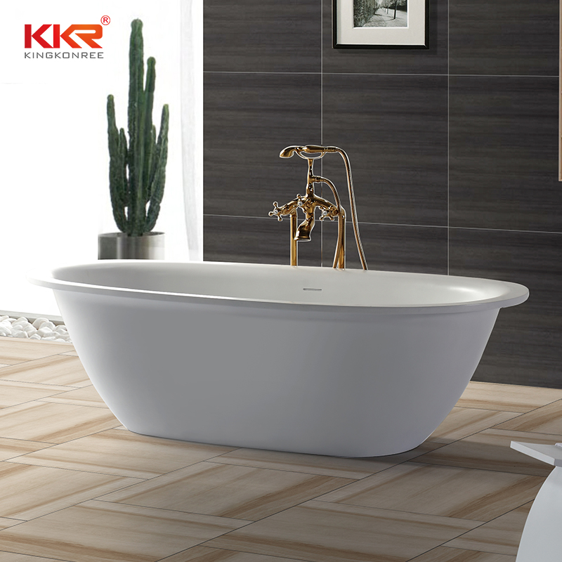 High Quality Indoor Solid Surface Modern Free Standing Bathtub KKR-B040