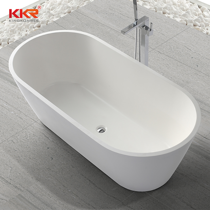 1670mm Small Size Fashion Design Acrylic Solid Surface Bathtub KKR-B041