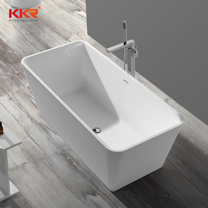 Around 150cm Length High-end Solid Surface Acrylic Marble Bathtub KKR-B042