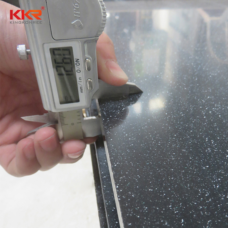 Small Sparkle Chips Artificial Marble Solid Surface Sheets KKR-M1673