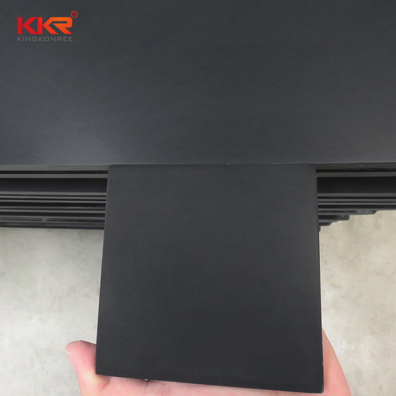 Nocturne Color Pure Black Modified Acrylic Solid Surface Sheets KKR-M1718