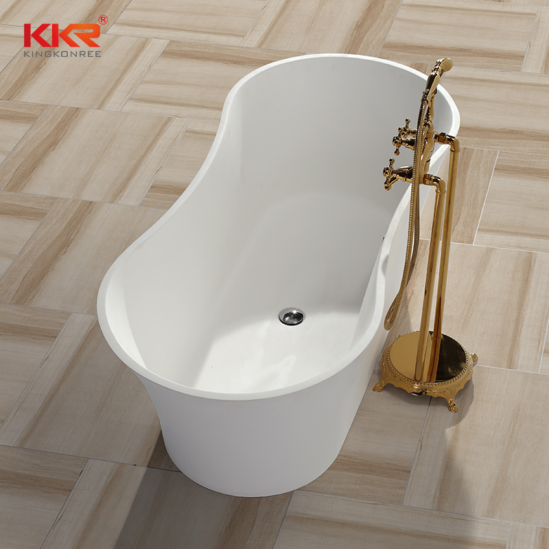 Five Stars Hotel Standard Acrylic Resin Marble Bath Tub KKR-B045
